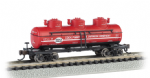 17156 Bachmann US 3-Dome Tank Car Cook Paint & Varnish Company